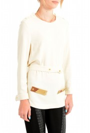 Just Cavalli Women's Ivory Long Sleeve Blouse Top: Picture 2