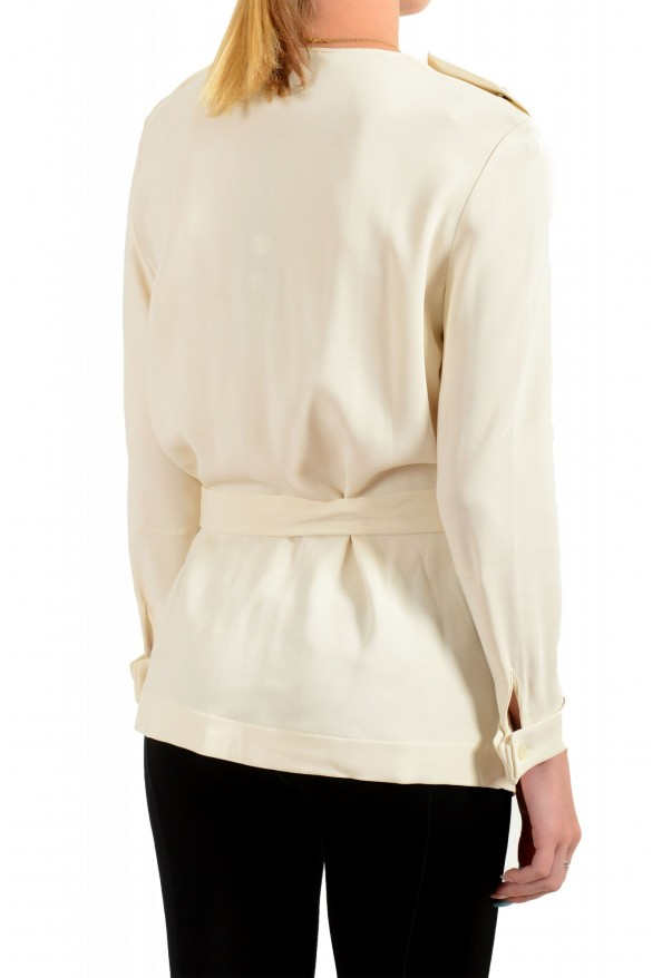 Just Cavalli Women's Ivory Long Sleeve Blouse Top: Picture 3