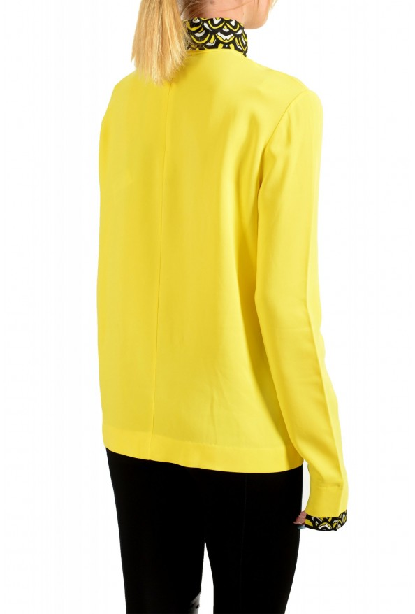 Just Cavalli Women's Bright Yellow Long Sleeve Blouse Top: Picture 3