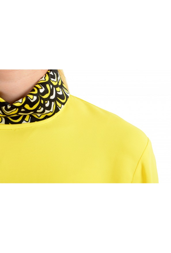 Just Cavalli Women's Bright Yellow Long Sleeve Blouse Top: Picture 4