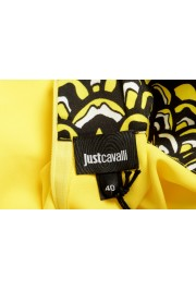 Just Cavalli Women's Bright Yellow Long Sleeve Blouse Top: Picture 5