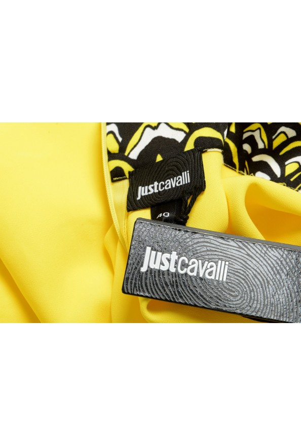Just Cavalli Women's Bright Yellow Long Sleeve Blouse Top: Picture 6