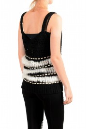 Just Cavalli Women's Wool Rabbit Hair Knitted Blouse Top: Picture 3