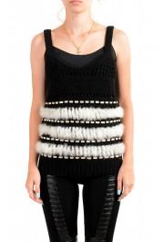 Just Cavalli Women's Wool Rabbit Hair Knitted Blouse Top