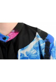 Just Cavalli Women's Multi-Color Silk Ruffled Blouse Top : Picture 4