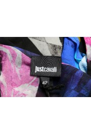 Just Cavalli Women's Multi-Color Silk Ruffled Blouse Top : Picture 5