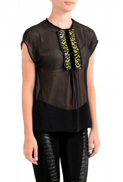 Just Cavalli Women's Black See Through Sleeveless Blouse Top : Picture 2