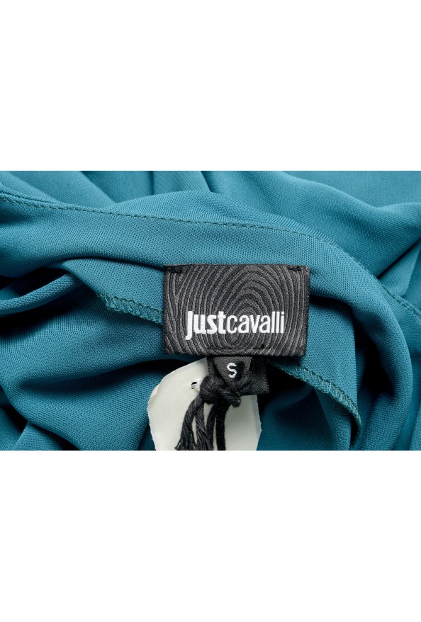 Just Cavalli Women's Pine Green Deep V-Neck Blouse Top : Picture 5