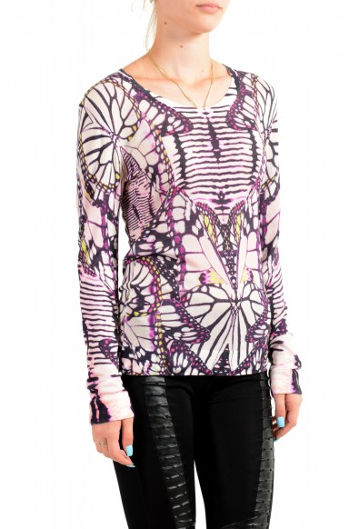Just Cavalli Women's Multi-Color Floral Print Pullover Sweater: Picture 2