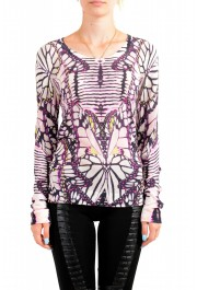 Just Cavalli Women's Multi-Color Floral Print Pullover Sweater