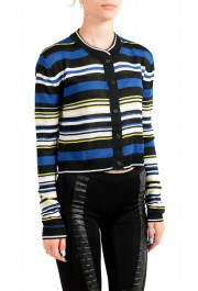 Just Cavalli Women's Multi-Color Striped Cropped Cardigan Sweater : Picture 2
