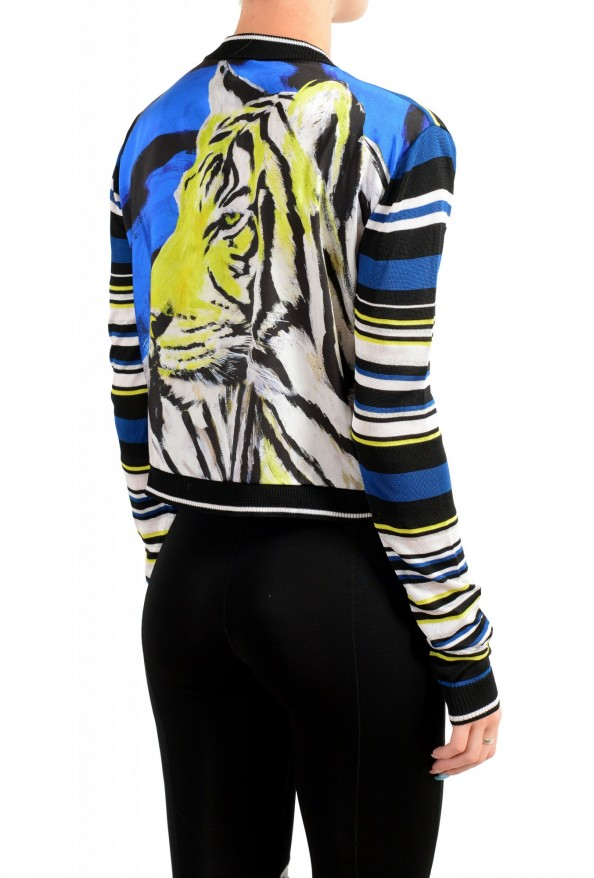 Just Cavalli Women's Multi-Color Striped Cropped Cardigan Sweater : Picture 3