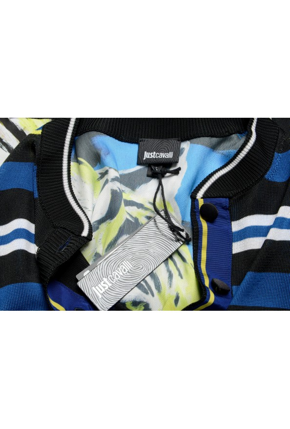 Just Cavalli Women's Multi-Color Striped Cropped Cardigan Sweater : Picture 6