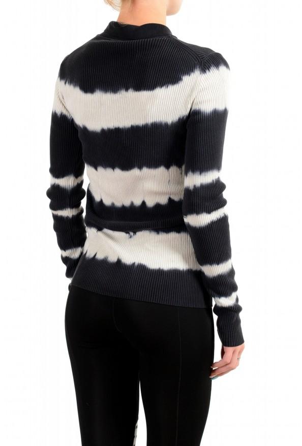 Versace Women's Multi-Color 100% Silk Striped Polo Style Sweater : Picture 3
