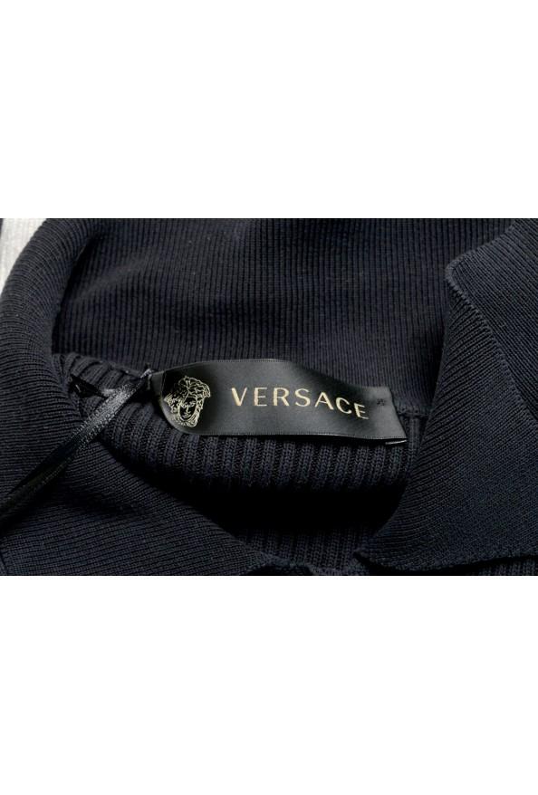 Versace Women's Multi-Color 100% Silk Striped Polo Style Sweater : Picture 4