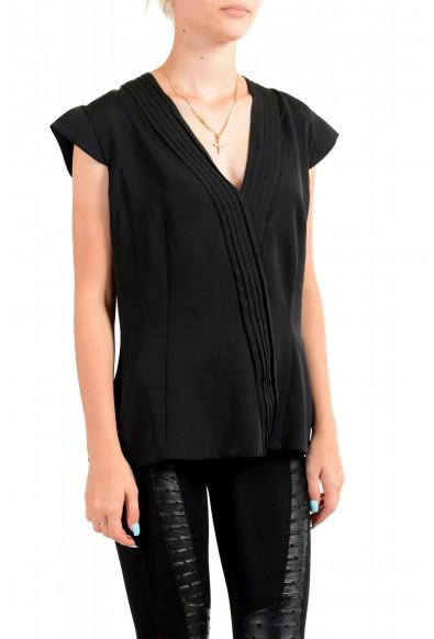 Viktor & Rolf Women's Black V-Neck Sleeveless Blouse Top : Picture 2