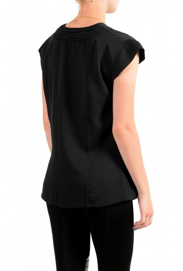 Viktor & Rolf Women's Black V-Neck Sleeveless Blouse Top : Picture 3