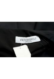 Viktor & Rolf Women's Black V-Neck Sleeveless Blouse Top : Picture 5