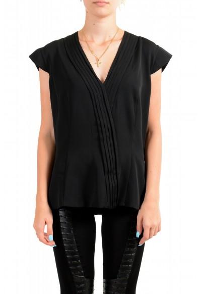 Viktor & Rolf Women's Black V-Neck Sleeveless Blouse Top