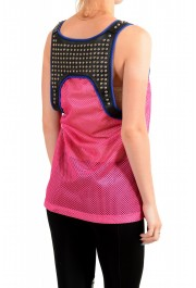Dsquared2 Women's Leather Metal Studs Decorated See through Tank Top : Picture 3