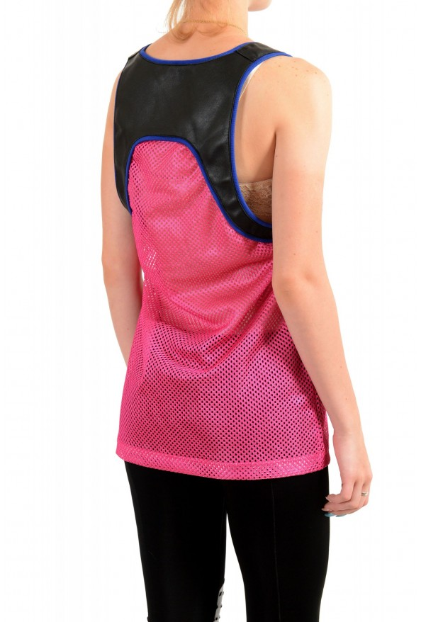 Dsquared2 Women's Multi-Color Leather See through Tank Top : Picture 3