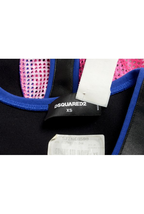 Dsquared2 Women's Multi-Color Leather See through Tank Top : Picture 4