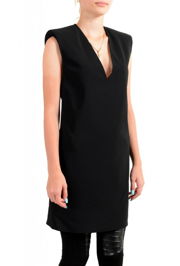 Versace Women's Black Deep V-Neck Mini Dress : Picture 2