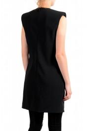 Versace Women's Black Deep V-Neck Mini Dress : Picture 3