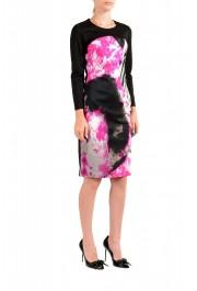 Just Cavalli Women's Multi-Color Crewneck Long Sleeve Bodycon Dress : Picture 2