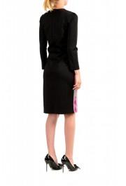 Just Cavalli Women's Multi-Color Crewneck Long Sleeve Bodycon Dress : Picture 3