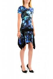 Just Cavalli Women's Multi-Color Floral Print Crewneck Stretch Fit & Flare Dress: Picture 2