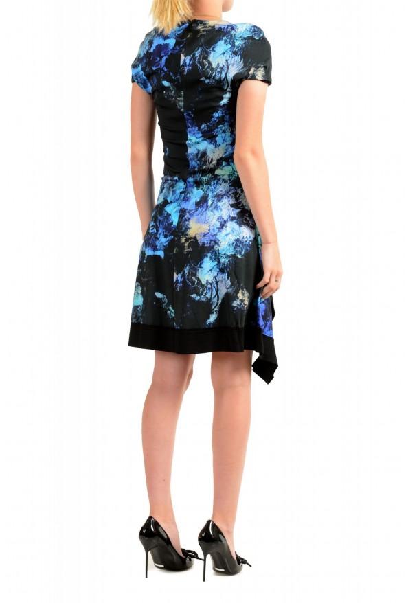 Just Cavalli Women's Multi-Color Floral Print Crewneck Stretch Fit & Flare Dress: Picture 3