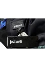 Just Cavalli Women's Multi-Color Floral Print Crewneck Stretch Fit & Flare Dress: Picture 6