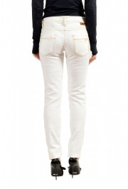 Just Cavalli Women's Ivory Distressed Look Skinny Jeans: Picture 3
