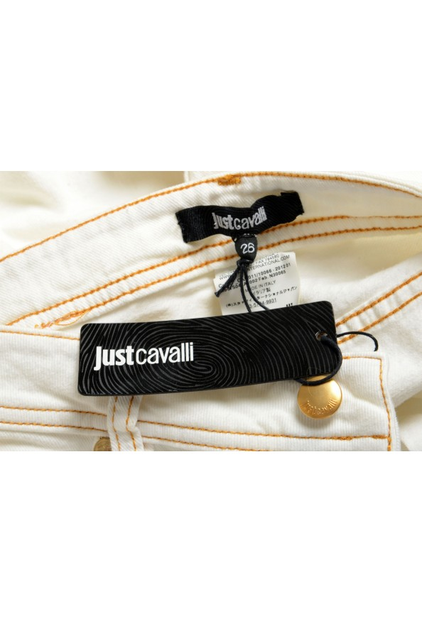 Just Cavalli Women's Ivory Distressed Look Skinny Jeans: Picture 5