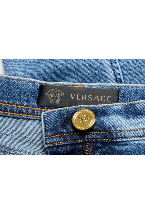 Versace Women's Medium Wash High Waisted Denim Pants : Picture 4