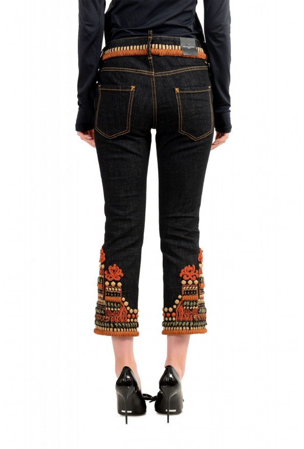"""Dsquared2 Women's """"Cool Girl Cropped Jean"""" Ebroidered Blue Jeans : Picture 3"""