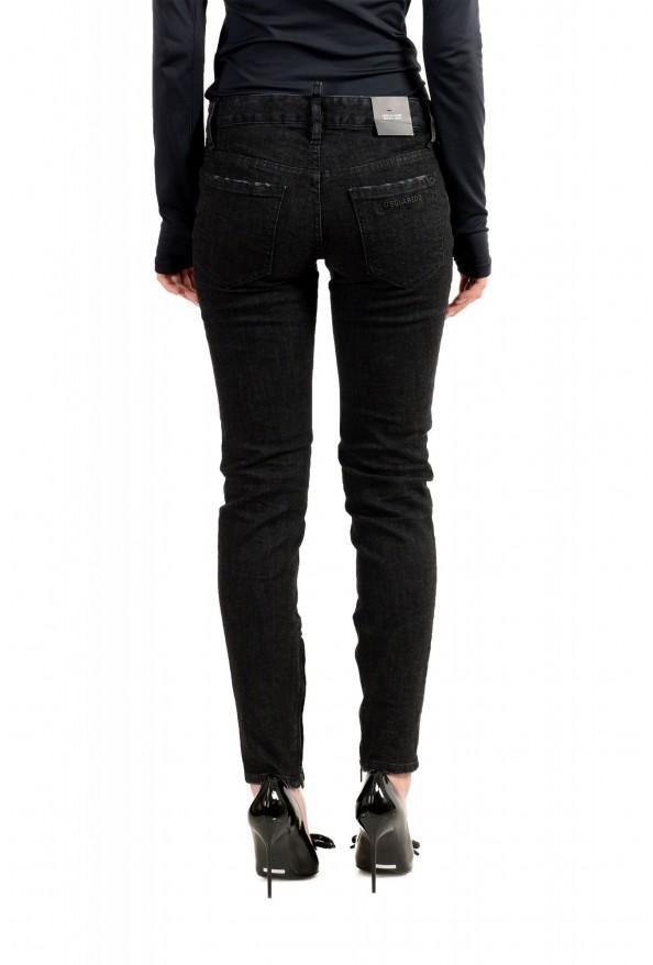 "Dsquared2 Women's ""Medium Waist Skinny Jean"" Black Jeans: Picture 3"