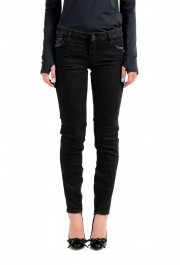 "Dsquared2 Women's ""Medium Waist Skinny Jean"" Black Jeans"