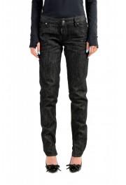 "Dsquared2 Women's ""Medium Waist Skinny Jean"" Black Wash Jeans"