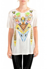 Just Cavalli Women's Multi-Color Beads Embellished T-Shirt