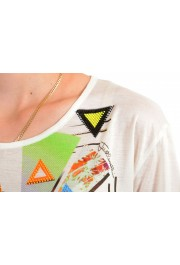 Just Cavalli Women's Multi-Color Beads Embellished T-Shirt: Picture 4