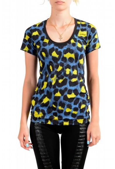 Just Cavalli Women's Multi-Color Animal Print Stretch T-Shirt