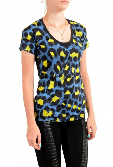 Just Cavalli Women's Multi-Color Animal Print Stretch T-Shirt : Picture 2