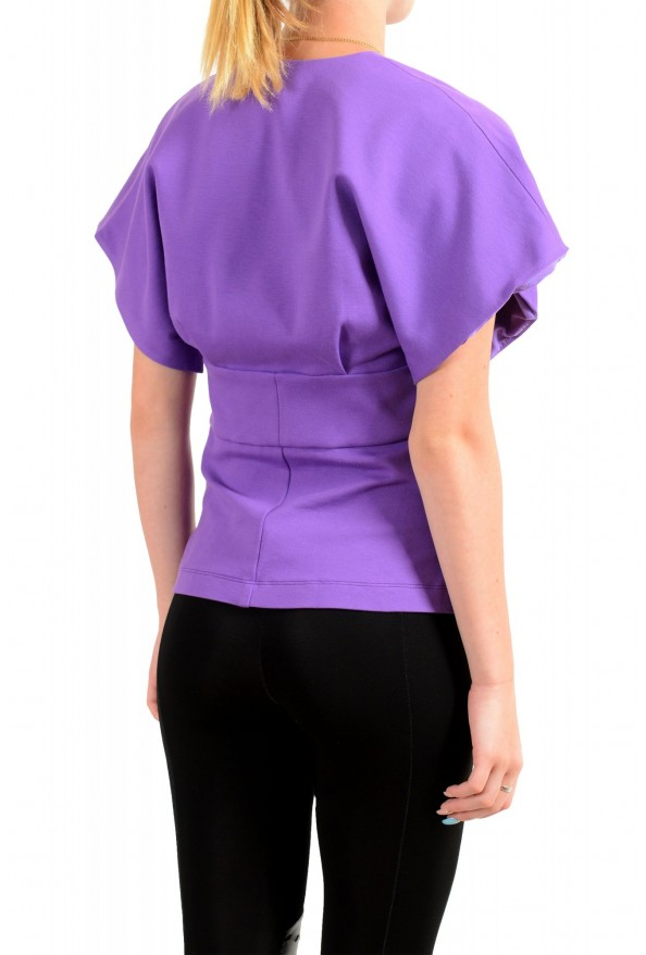 Just Cavalli Women's Purple Short Sleeve Blouse Top : Picture 3