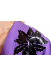 Just Cavalli Women's Purple Short Sleeve Blouse Top : Picture 4