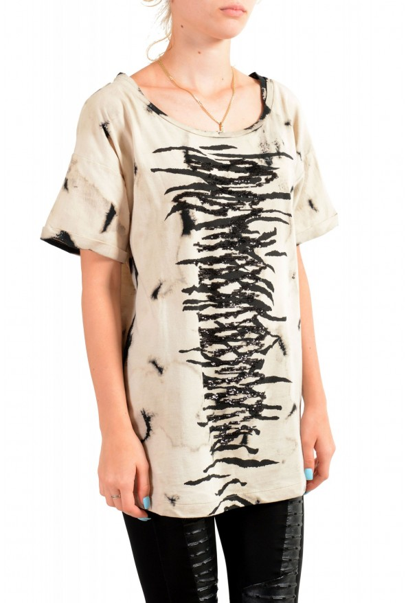 Just Cavalli Women's Multi-Color Animal Print Embellished T-Shirt : Picture 2