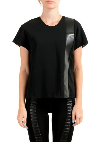 Just Cavalli Women's Black Short Sleeve Blouse Top