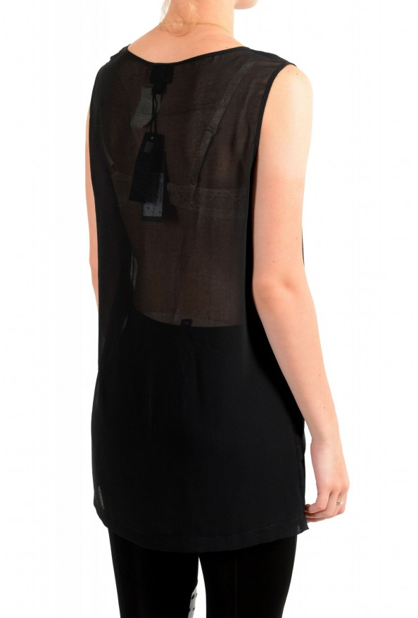 Just Cavalli Women's Black See Through Sleeveless Blouse Top : Picture 3