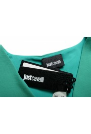 Just Cavalli Women's Emerald Green Wool Short Sleeve Blouse Top: Picture 6